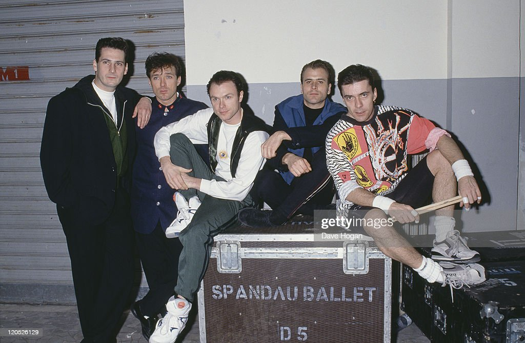 British pop group Spandau Ballet, circa 1985. Left to right: singer <a gi-track='captionPersonalityLinkClicked' href=/galleries/search?phrase=Tony+Hadley&family=editorial&specificpeople=214652 ng-click='$event.stopPropagation()'>Tony Hadley</a>, bassist <a gi-track='captionPersonalityLinkClicked' href=/galleries/search?phrase=Martin+Kemp&family=editorial&specificpeople=213385 ng-click='$event.stopPropagation()'>Martin Kemp</a>, guitarist <a gi-track='captionPersonalityLinkClicked' href=/galleries/search?phrase=Gary+Kemp&family=editorial&specificpeople=213076 ng-click='$event.stopPropagation()'>Gary Kemp</a>, saxophonist <a gi-track='captionPersonalityLinkClicked' href=/galleries/search?phrase=Steve+Norman&family=editorial&specificpeople=1573333 ng-click='$event.stopPropagation()'>Steve Norman</a> and drummer <a gi-track='captionPersonalityLinkClicked' href=/galleries/search?phrase=John+Keeble&family=editorial&specificpeople=2011250 ng-click='$event.stopPropagation()'>John Keeble</a>.
