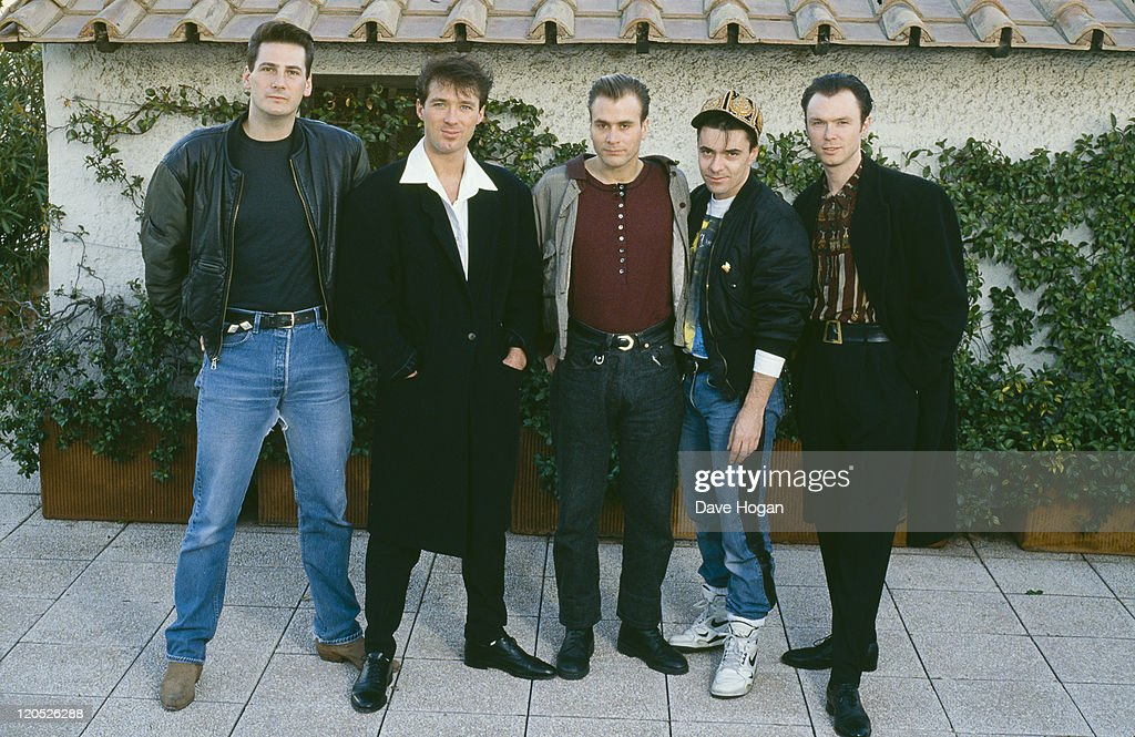 British pop group Spandau Ballet, circa 1985. Left to right: singer <a gi-track='captionPersonalityLinkClicked' href=/galleries/search?phrase=Tony+Hadley&family=editorial&specificpeople=214652 ng-click='$event.stopPropagation()'>Tony Hadley</a>, bassist <a gi-track='captionPersonalityLinkClicked' href=/galleries/search?phrase=Martin+Kemp&family=editorial&specificpeople=213385 ng-click='$event.stopPropagation()'>Martin Kemp</a>, saxophonist <a gi-track='captionPersonalityLinkClicked' href=/galleries/search?phrase=Steve+Norman&family=editorial&specificpeople=1573333 ng-click='$event.stopPropagation()'>Steve Norman</a>, drummer <a gi-track='captionPersonalityLinkClicked' href=/galleries/search?phrase=John+Keeble&family=editorial&specificpeople=2011250 ng-click='$event.stopPropagation()'>John Keeble</a> and guitarist <a gi-track='captionPersonalityLinkClicked' href=/galleries/search?phrase=Gary+Kemp&family=editorial&specificpeople=213076 ng-click='$event.stopPropagation()'>Gary Kemp</a>.