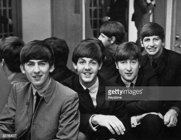 British pop group The Beatles from left to right George Harrison Paul McCartney John Lennon and Ringo Starr in Sweden