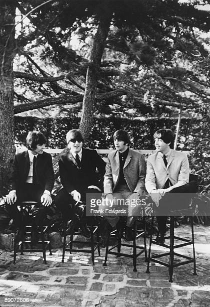 British pop group The Beatles in Los Angeles 24th August 1964 From left to right George Harrison John Lennon Ringo Starr and Paul McCartney