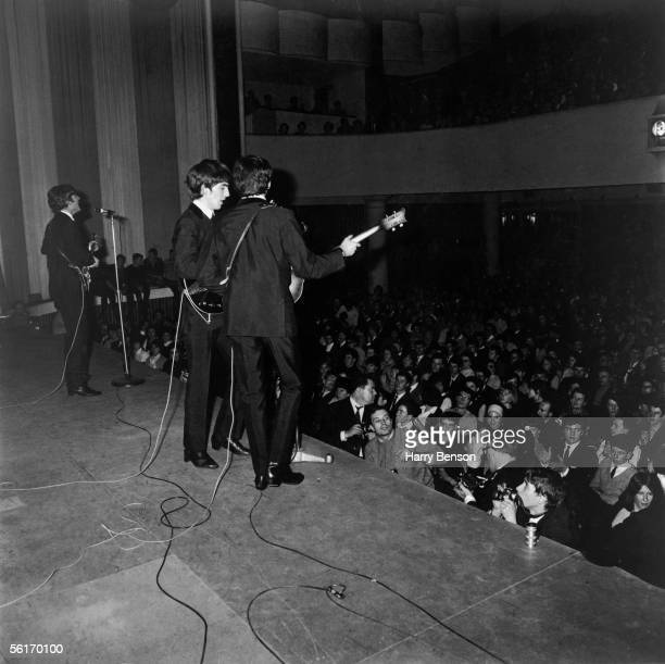 British pop group The Beatles performing at the Paris Olympia 16th January 1964