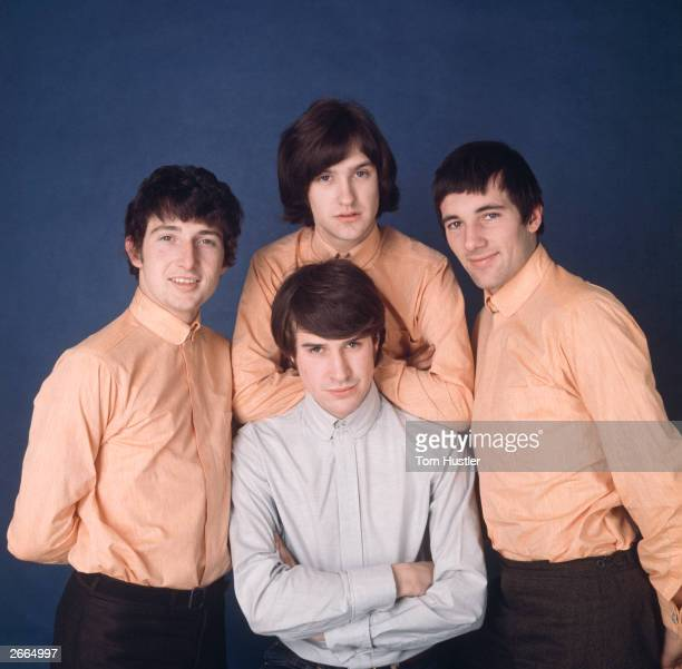 British pop group The Kinks Left to right clockwise Mick Avory Dave Davies Pete Quaife and singer Ray Davies