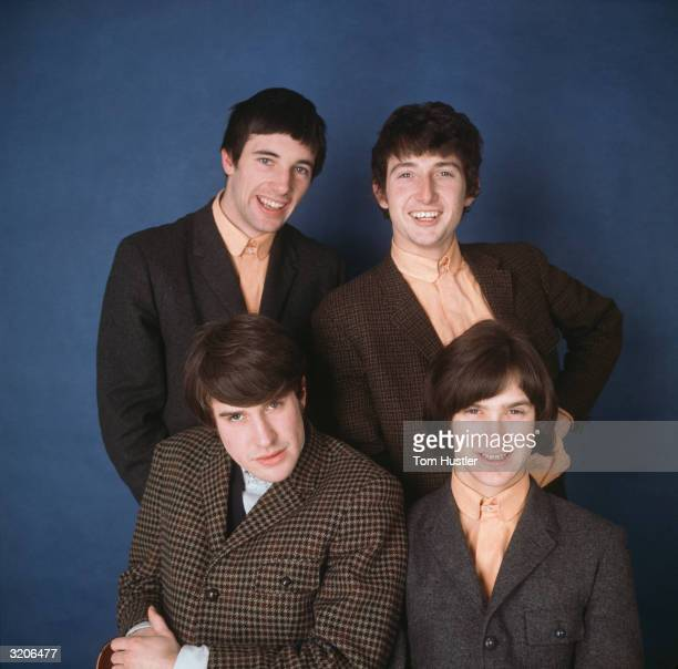 British pop group The Kinks Left to right clockwise Mick Avory Pete Quaife Dave Davies and singer Ray Davies