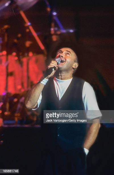 British pop musician Phil Collins leads his Big Band at Carnegie Hall New York New York June 29 1998