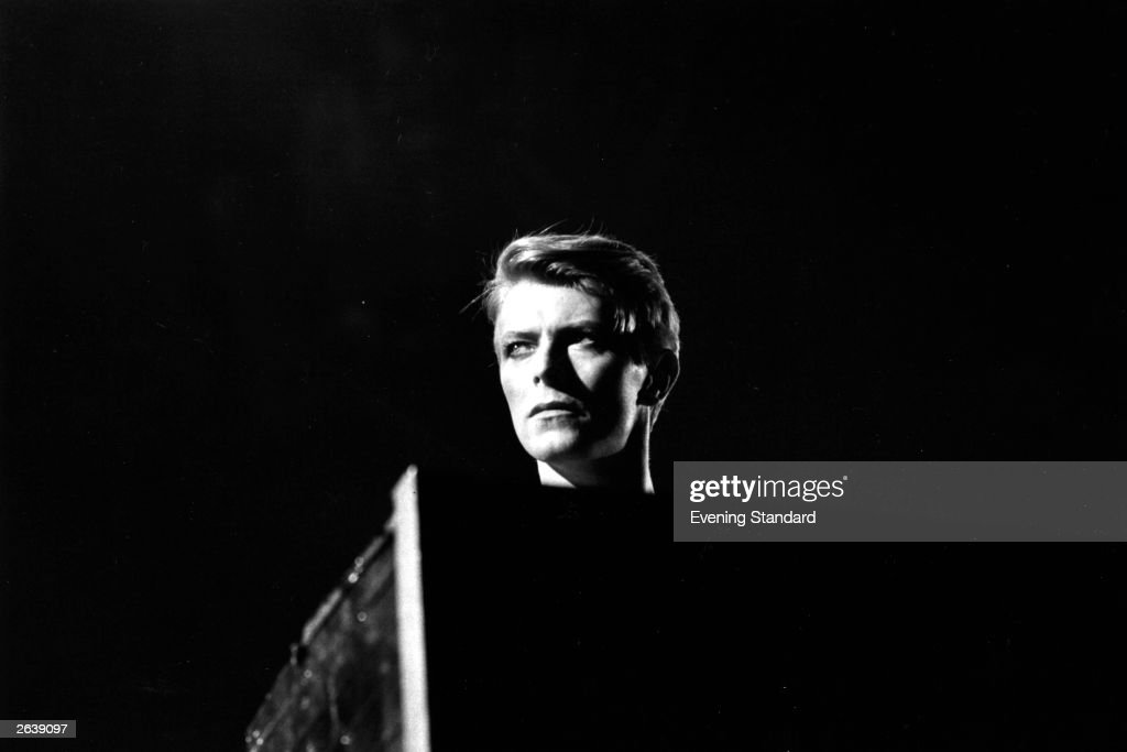 British pop singer <a gi-track='captionPersonalityLinkClicked' href=/galleries/search?phrase=David+Bowie&family=editorial&specificpeople=171314 ng-click='$event.stopPropagation()'>David Bowie</a> in concert at Earl's Court, London during his 1978 world tour.