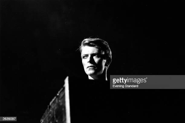 British pop singer David Bowie in concert at Earl's Court London during his 1978 world tour