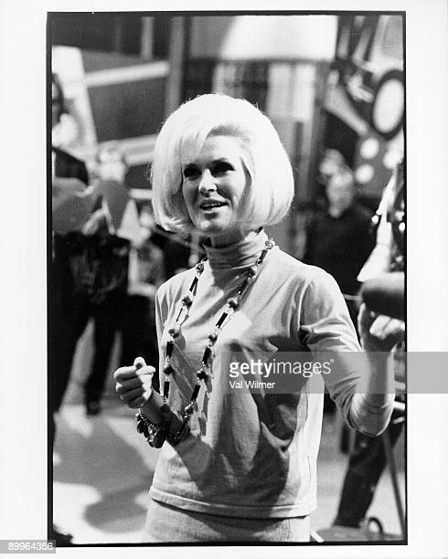 British pop singer Dusty Springfield performs live on stage on the TV show 'Ready Steady Go' circa 1965