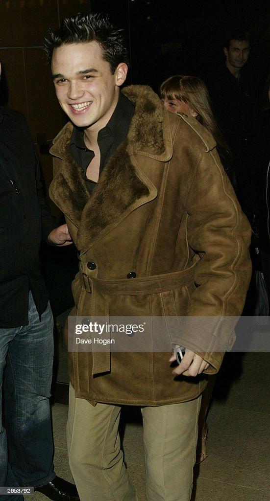 British pop star Gareth Gates attends the 'Unbreakable' album launch at the Zuma Restaurant on November 11, 2002 in London.