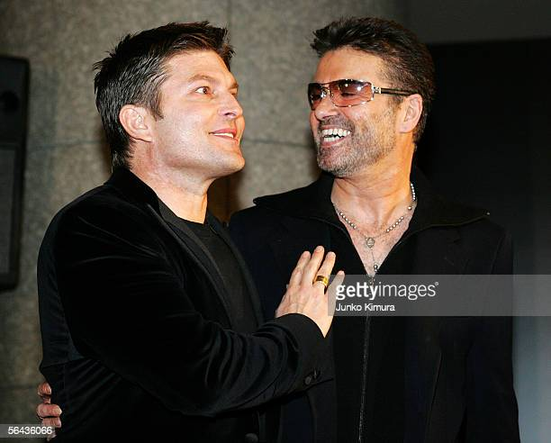 British pop star George Michael and his partner Kenny Goss attend the Japanese Premiere of his film 'A Different Story' on December 15 2005 in Tokyo...