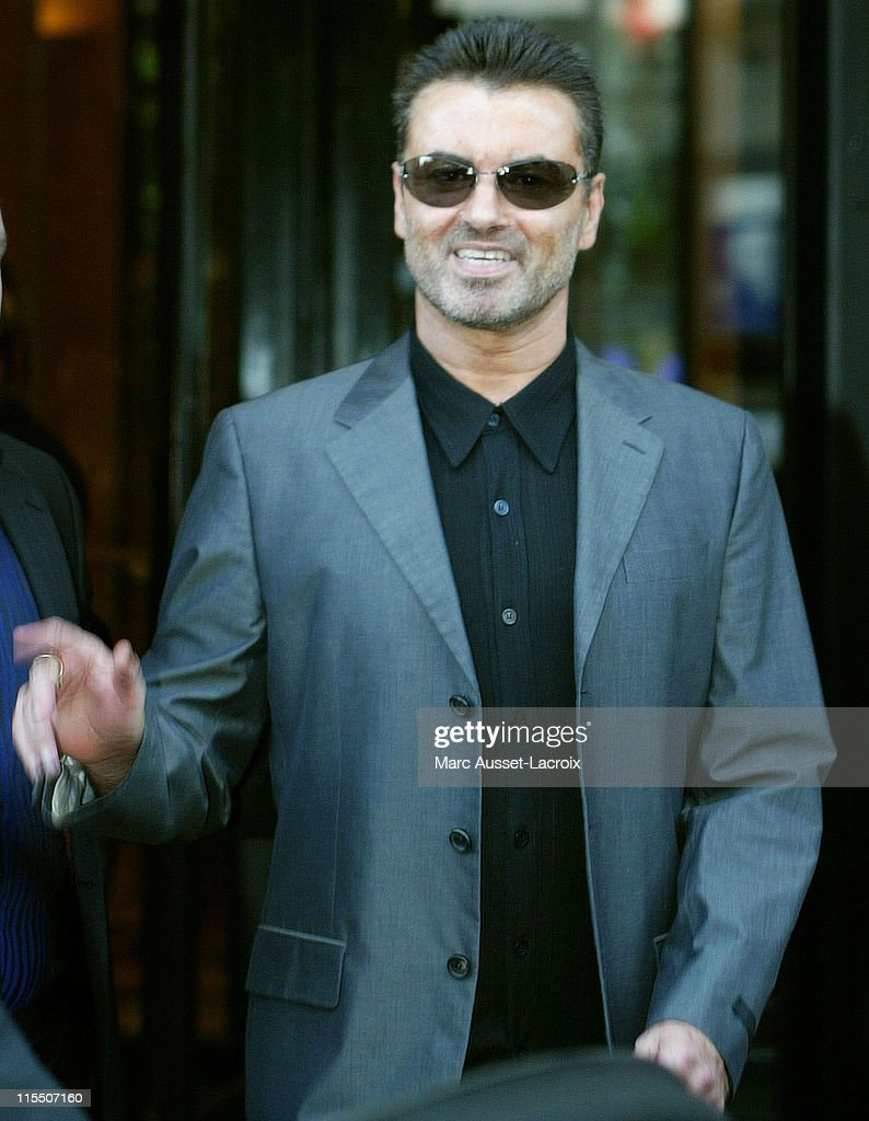 British pop star George Michael leaving the Four Season39;s Georges 5