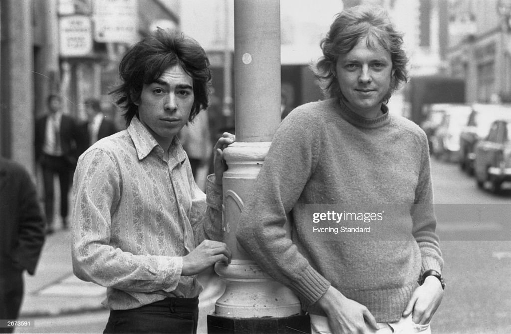 British popular composer Andrew Lloyd Webber with his writing partner and lyricist Tim Rice