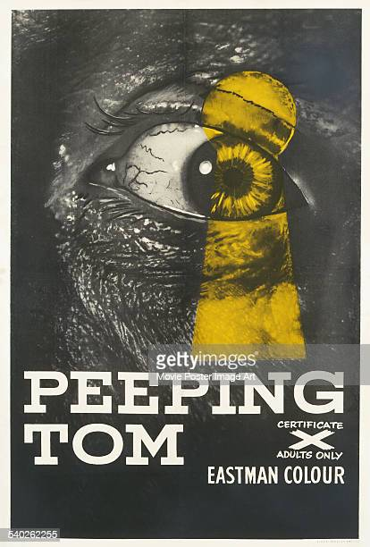 A British poster for Michael Powell's 1960 thriller/horror film 'Peeping Tom' starring Carl Boehm