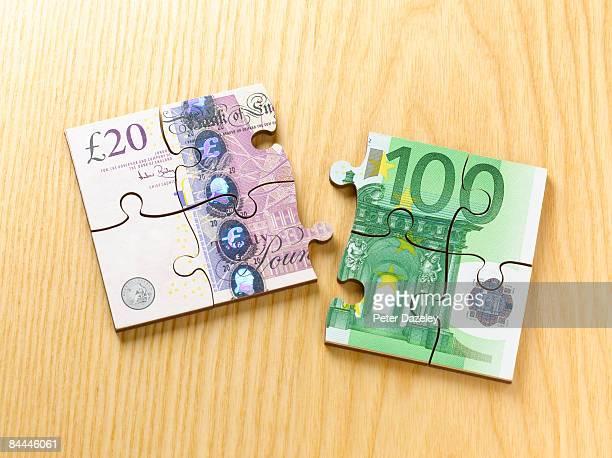 British pound and Euro jigsaw puzzle
