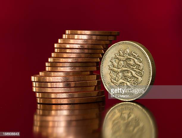 British Pound And Penny Coins Stock Photo - Getty Images