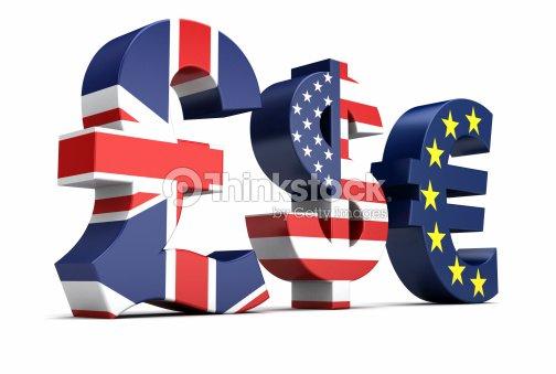 British Pound Us Dollar Euro Currency Symbols Stock Photo Thinkstock