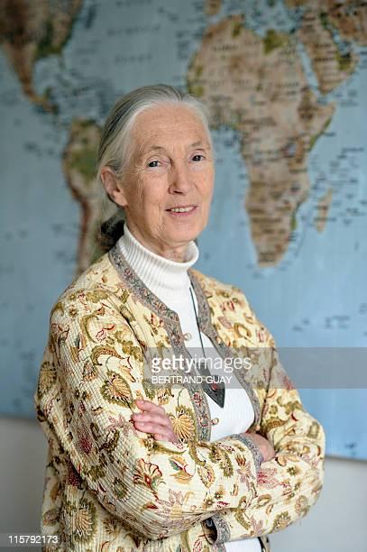 'LA NATURE EST COMME UN ORCHESTRE QUI PERD SES MUSICIENS UN PAR UN' British primatologist and conservationist Jane Goodall poses on June 21 2010 in...