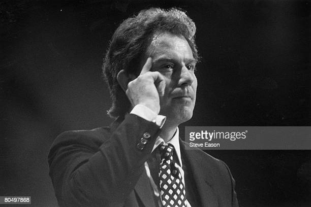 British Prime Minister and leader of the Labour Party Tony Blair making a speech 2nd October 1996