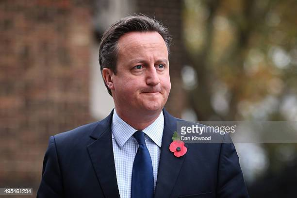 British Prime Minister David Cameron arrives at St Georges Cathedral for a memorial service for former Liberal Democrat leader Charles Kennedy on...