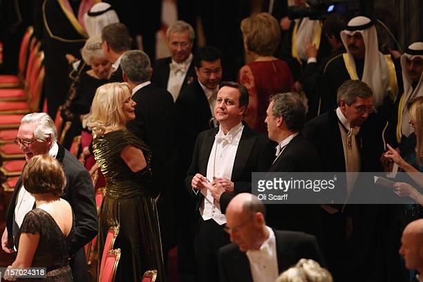 British Prime Minister David Cameron arrives to attend a State Banquet for His Highness the Amir Sheikh Sabah AlAhmad AlJaber AlSabah of Kuwait in...