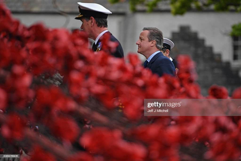 British Prime Minister David Cameron attend the commemorations of the 100th anniversary of the Battle of Jutland at St Magnus Cathedral on May 31, 2016 in Kirkwall,Scotland. The event marks the centenary of the largest naval battle of World War One where more than 6,000 Britons and 2,500 Germans died in the Battle of Jutland fought near the coast of Denmark on 31 May and 1 June 1916.