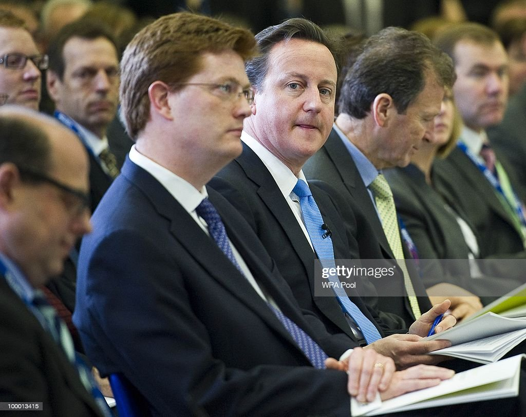 British Prime Minister David Cameron attends the launch of the Government Programme Coalition Agreement document in London, May 20, 2010. The event served as platform at which the new government outlined the details agreed in the formation of the new coalition including policy areas such as the introduction of a banking levy and plans to rein in bonuses in the financial services sector.