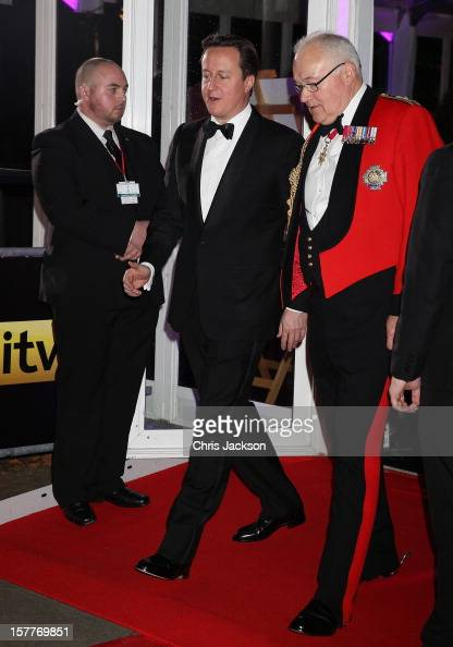 British Prime Minister David Cameron attends the Sun Military Awards at the Imperial War Museum on December 6 2012 in London England