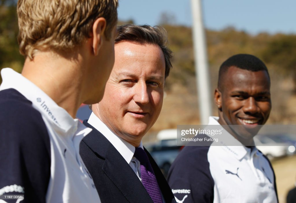 The UK Prime Minister David Cameron In South Africa