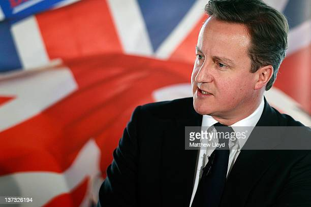 British Prime Minister David Cameron makes a speech on responsible capitalism at New Zealand House on January 19 2012 in London England He answered...
