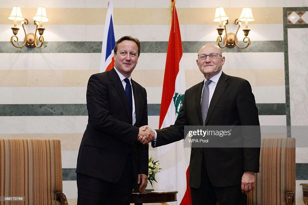 British Prime Minister David Cameron Visits Lebanese Refugee Camp