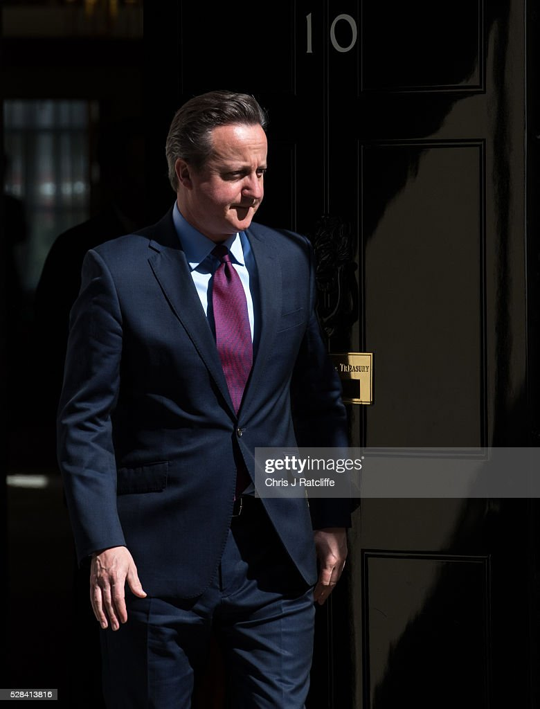 British Prime��Minister, David Cameron, meets the Prime Minister of Japan,��Shinzo Abe, at Downing Street on May 5, 2016 in London, England. Mr Abe is the current serving Prime Minister of Japan and was re-elected to the position in December 2012.