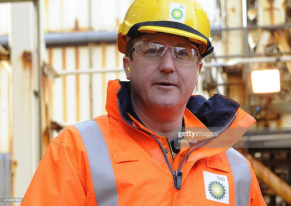 British Prime Minister <a gi-track='captionPersonalityLinkClicked' href=/galleries/search?phrase=David+Cameron+-+Politician&family=editorial&specificpeople=227076 ng-click='$event.stopPropagation()'>David Cameron</a> tours the BP ETAP (Eastern Trough Area Project) oil platform in the North Sea on February 24, 2014, around 100 miles east of Aberdeen, Scotland. The British cabinet will meet in Scotland for only the third time in history to announce plans for the country's oil industry, which it warns will decline if Scots vote for independence. The fate of North Sea oil revenues will be a key issue ahead of the September 18 referendum to decide whether Scotland will end its 300-year-old union with England, and is expected to be the focus of Prime Minister <a gi-track='captionPersonalityLinkClicked' href=/galleries/search?phrase=David+Cameron+-+Politician&family=editorial&specificpeople=227076 ng-click='$event.stopPropagation()'>David Cameron</a>'s cabinet meeting.