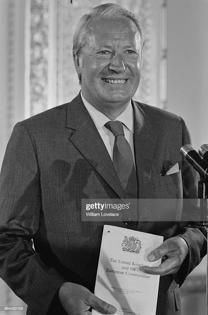British Prime Minister Edward Heath presents the Government's White Paper on 'The United Kingdom and the European Communities' at a world press...