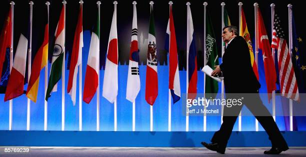 British Prime Minister Gordon Brown attends the G20 summit on April 2 2009 in London Mr Brown has announced a raft of measures agreed by world...