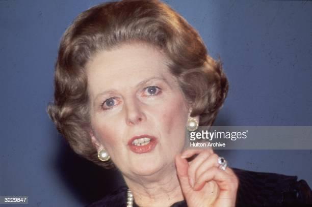 British Prime Minister Margaret Thatcher speaking her mind