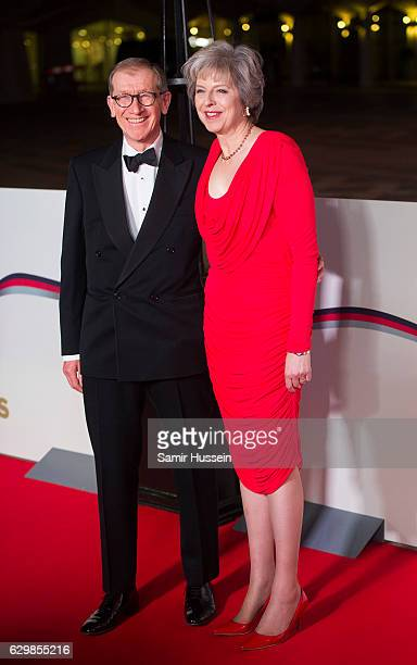 British Prime Minister Theresa May and husband Philip May attend The Sun Military Awards at The Guildhall on December 14 2016 in London England