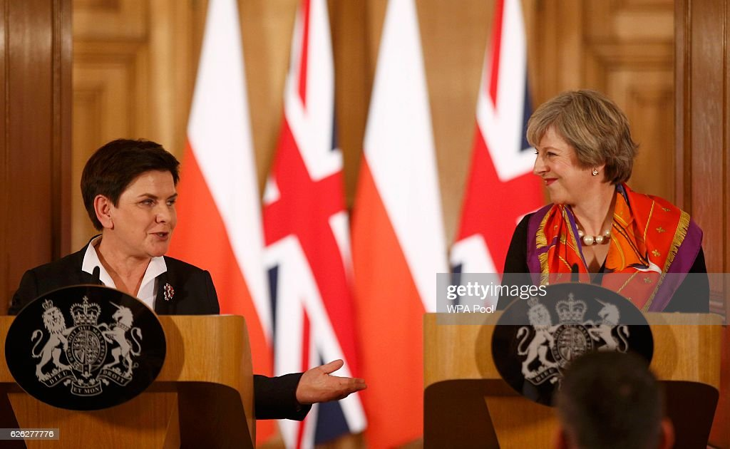 Theresa May Hosts The Polish Prime Minister