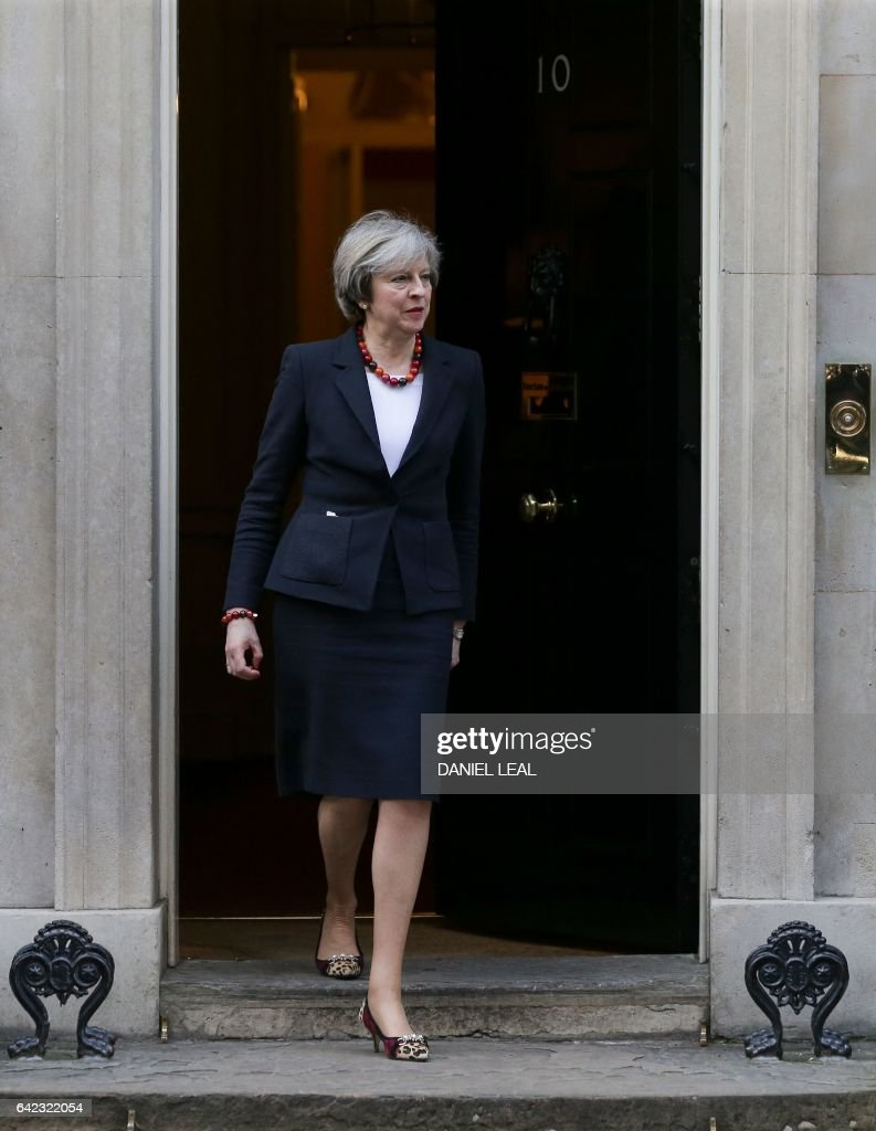 Uk muslims press for peace at 10 downing street - British Prime Minister Theresa May Comes Out Of 10 Downing Street In Central London On February
