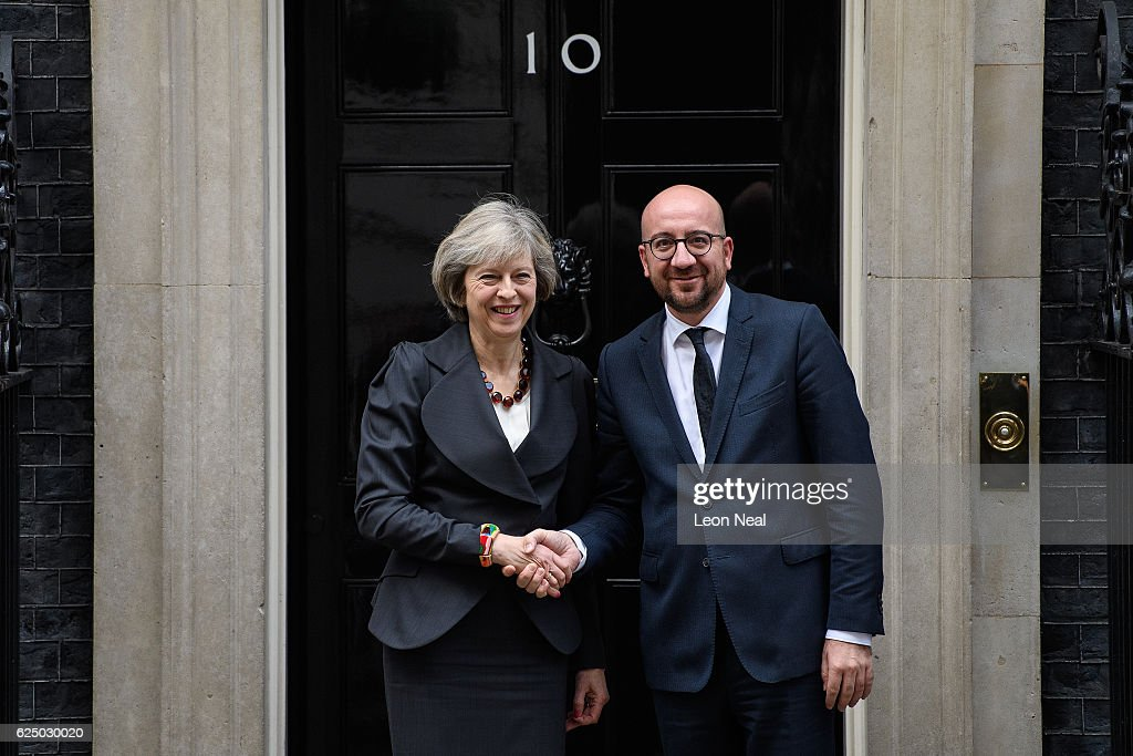 Theresa May Receives The Prime Minister Of Belgium