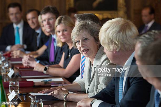 British Prime Minister Theresa May holds a cabinet meeting at the Prime Minister's country retreat Chequers to discuss departmentbydepartment Brexit...