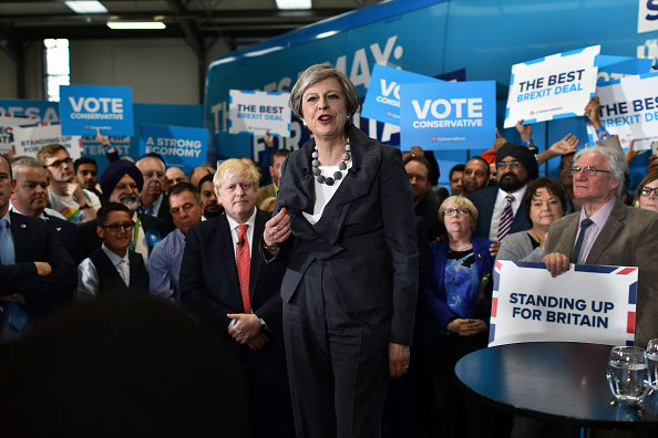 Theresa May Campaigns Around The UK : News Photo