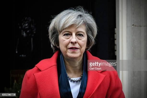 British Prime Minister Theresa May leaves 10 Downing Street to attend a Housing Select Committee on December 20 2016 in London England Mrs May has...