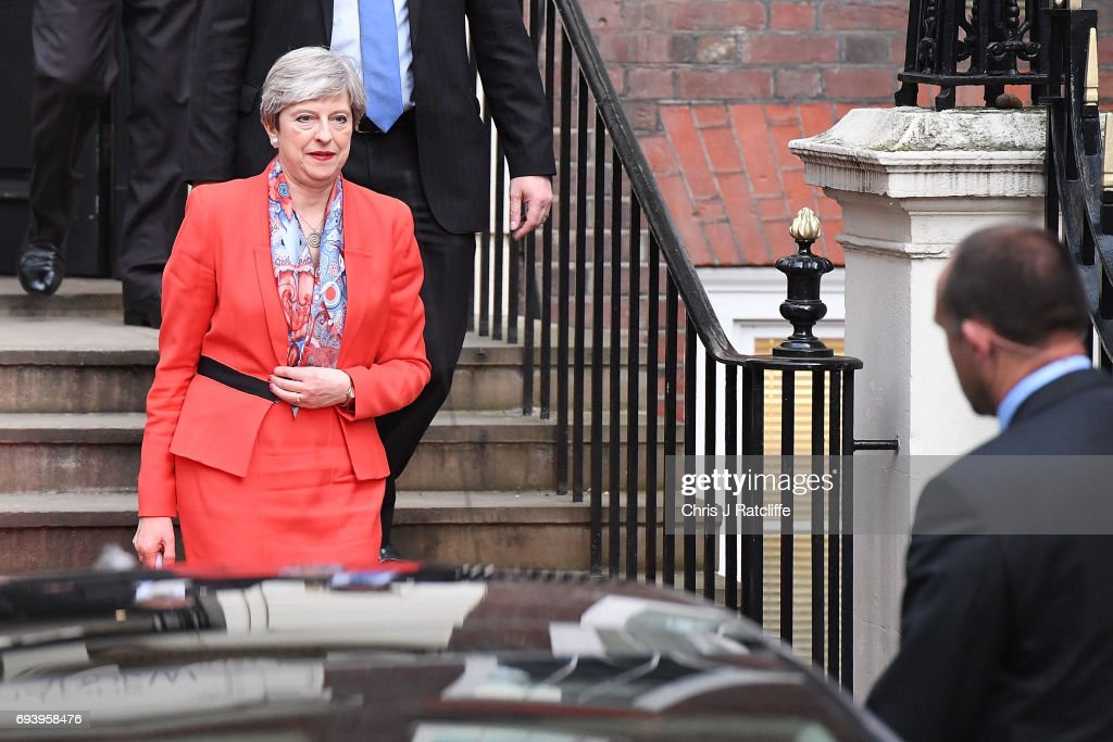 General Election 2017 - Comings And Goings At Conservative Party HQ : News Photo