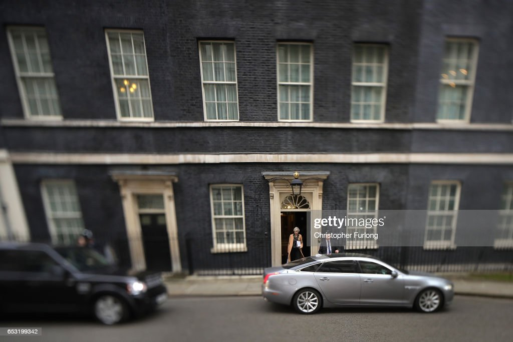 British Prime Minister Theresa May leaves Downing Street to make a statement in parliament on March 14, 2017 in London, England. Following a vote in Parliament, British Prime Minister Theresa May now has the power to trigger Article 50, formally beginning the process that will see Britain leave the European Union.
