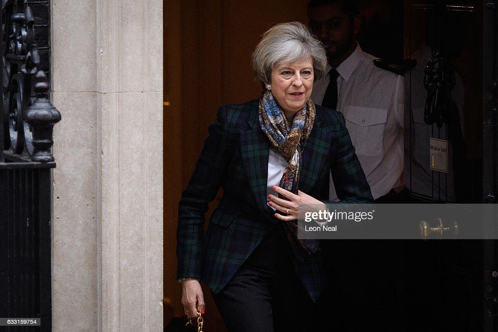 Theresa May Leaves Downing Street : News Photo