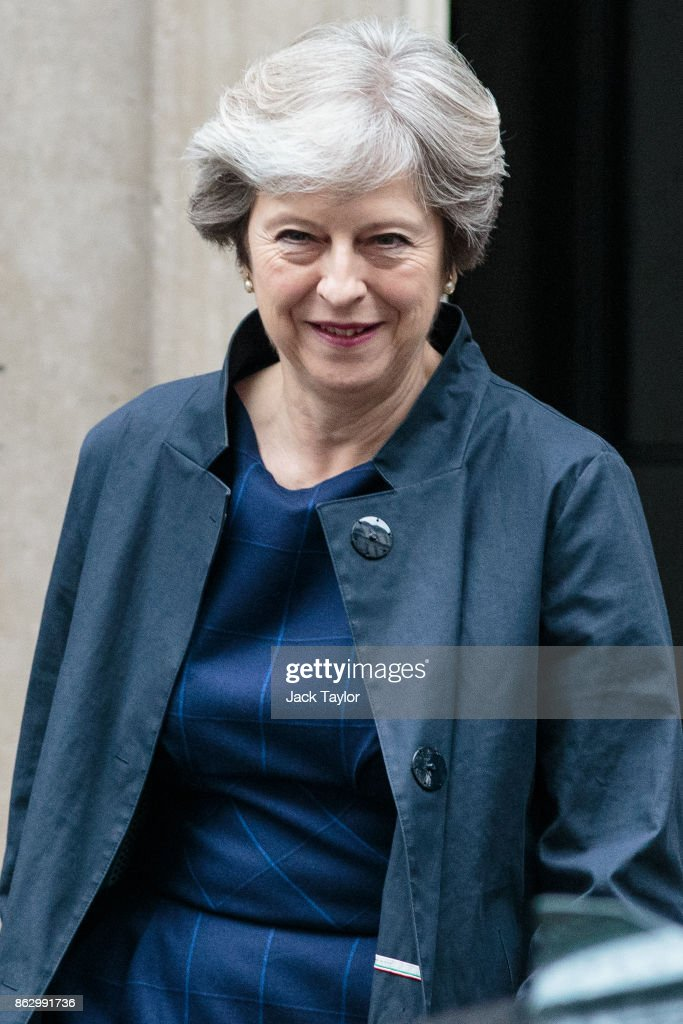 Theresa May Leaves Downing Street To Head To Brussels For Further Brexit Talks