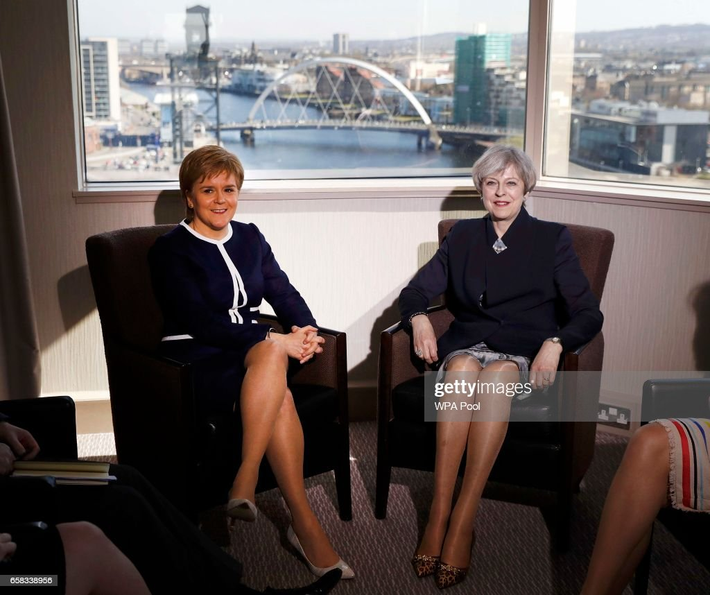 Theresa May Visits Scotland Ahead Of Triggering Article 50 Later This Week : News Photo