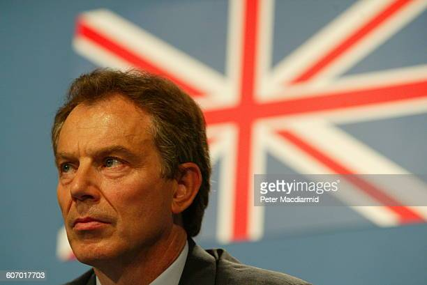 British Prime Minister Tony Blair attends the G8 Summit Evian France June 2 2003