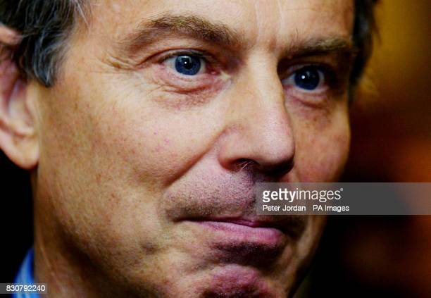British Prime Minister Tony Blair hosts an ICT industry event in Downing Street London during which he was due to underline the goverment's...