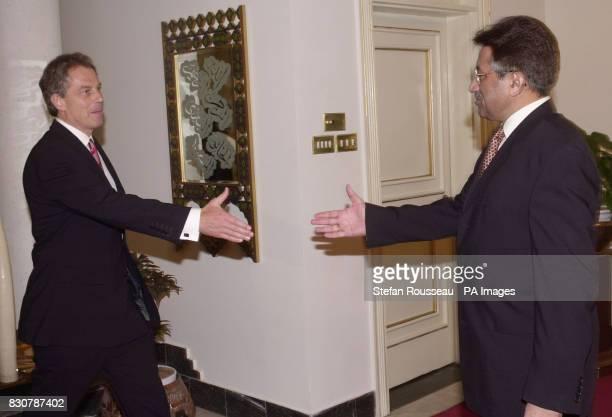 British Prime Minister Tony Blair meets Pakistan's President Musharraf in Islamabad Afterwards the president said he had assured Mr Blair Pakistan...