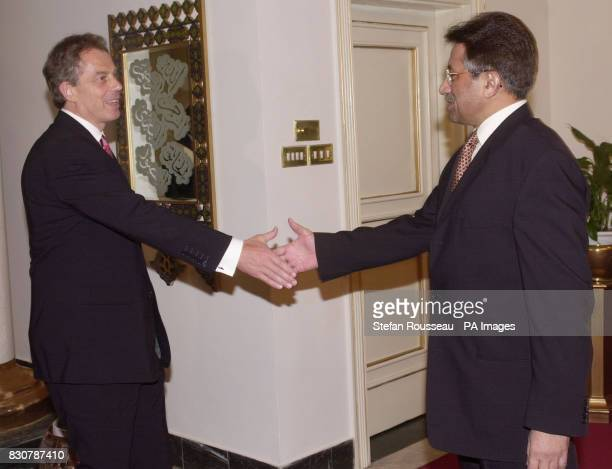 British Prime Minister Tony Blair meets Pakistan's President Musharraf in Islamabad Afterwards the president said that he had assured Mr Blair...